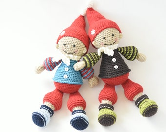 PATTERN - Jester the Christmas gnome - crochet amigurumi pattern, PDF (English, Dutch)