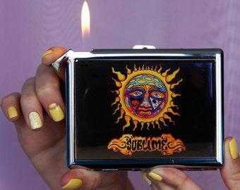Cigarette case Sublime, Chrome Lighter, unusual lighters, Lighter, gift, wallet, metal cigarette case, SUBLIME