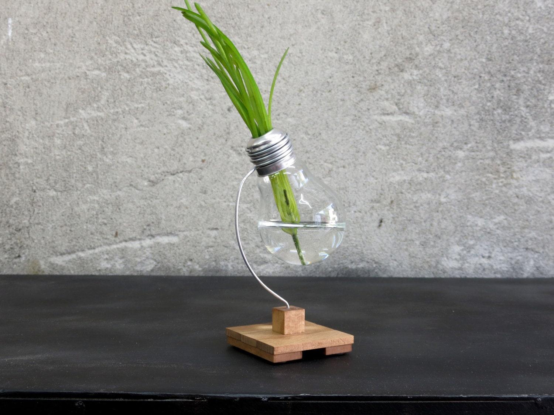 Geometric planter wooden vase office desk decor terrarium zoom reviewsmspy