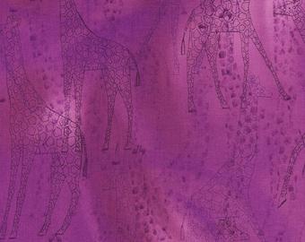 Giraffe Safari Purple RJR Jinny Beyer Fabric 1 yard