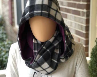 reversible hooded infinity scarf