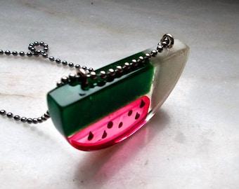 Pendant representing the watermelon fruit modern