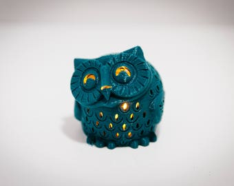 Owl Tea Light