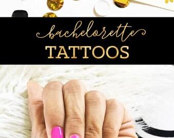 Bachelorette Tattoos Bachelorette Party Ideas Bachelorette Weekend Bride Tribe Tattoos Bachelorette Favors (EB3195) - set of 6 tattoos