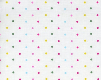 SALE - Polka Dot Fabric Nursery Pastel Pink Small Dots - Galaxy Tweetie Pie Fabric - 100% Cotton - By the Yard CLEARANCE FABRIC