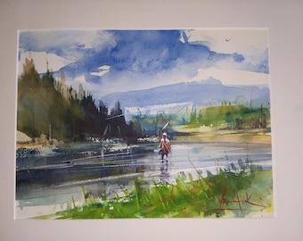 George Van Hook Water Color original painting
