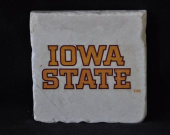 Iowa State Coasters Set of 4 handcrafted