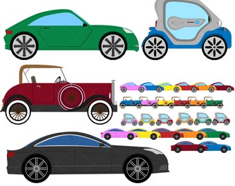 CARS Set Clipart - Digital Clip Art Graphics, Personal, Commercial Use - 29 PNG images (00015)