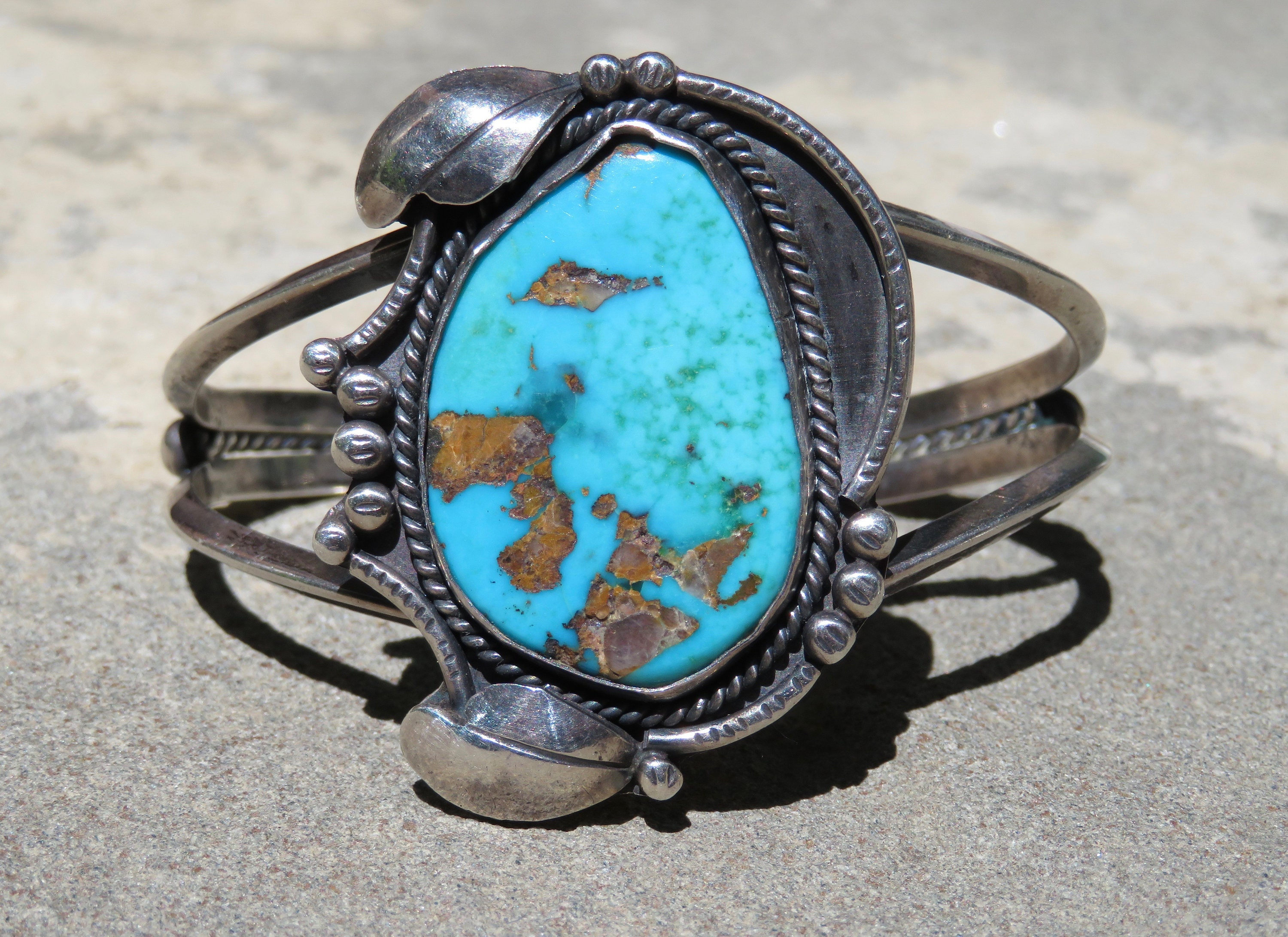 Turquoise Jewelry Vintage Native American Bracelet Turquoise And