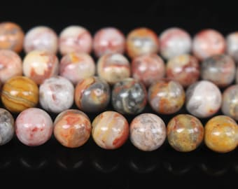6mm 8mm 10mm Red Crazy Lace Agate Beads-15 inches per strand