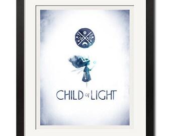 Kind von leichten Gaming Kunst Poster Print 0748