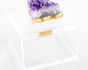 Amethyst Decorative Box
