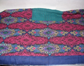 Large vintage Tweedvale scarf Rayon made in Scotland square