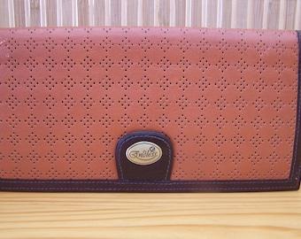 "Vintage 80's ""ENDLESS MORITA WALLET""  Patterned Ladies Wallet / Checkbook / Pocketbook"