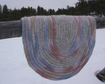 Braided Felted Wool Roving Rug