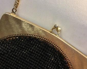 Vintage 1950's mesh Whiting & Davis chainmail tassle evening bag