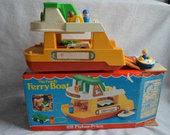 Vintage FISHER PRICE - Play family - Ferry boat - box included - 1979 -Fisher Price 932