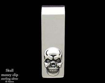 Skull Money Clip in Sterling Silver