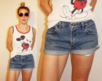 SALE 90s Vintage Perfect Cutoff Denim Shorts
