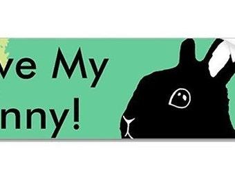 I Love My Bun Bumper Sticker - Original design - Mint Green