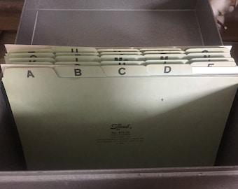 Large Vintage Industrial Silver Metal File Box