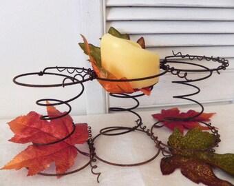 Rusty Bedsprings Tabletop Centerpiece - Autumn Farmhouse Decor