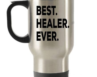 Healer Travel mug , Healer Gifts, Best Healer Ever, Stainless Steel Mug, Insulated Tumblers, Christmas Present