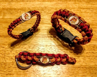 Gryffindor Harry Potter Hogwarts inspired Bracelet, Keychain, or Set