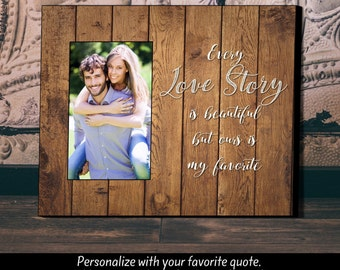 Personalized Picture Frame, Wedding Gift, Anniversary Gift, Picture Frame, Love Story