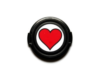 Heart lens cap for Canon, Nikon, Fuji, Sony etc. DSLR, Photography gift, photographers gift. Free shipping in North America.