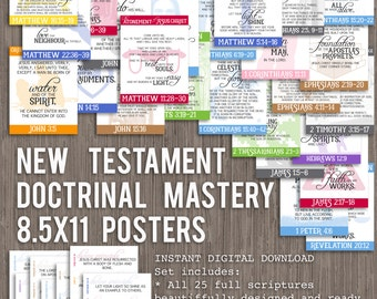 8.5x11 New Testament Doctrinal Mastery Posters for LDS Seminary-DIGITAL DOWNLOAD