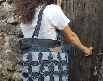 Hobo Bag, Tote Bag, Handbag, Strap Bag, Jeans Bag, Shoulder Bag, Vintage Bag, Messenger Bag, Handbags, Boho Bag, Flower bag, FREE SHIPPING