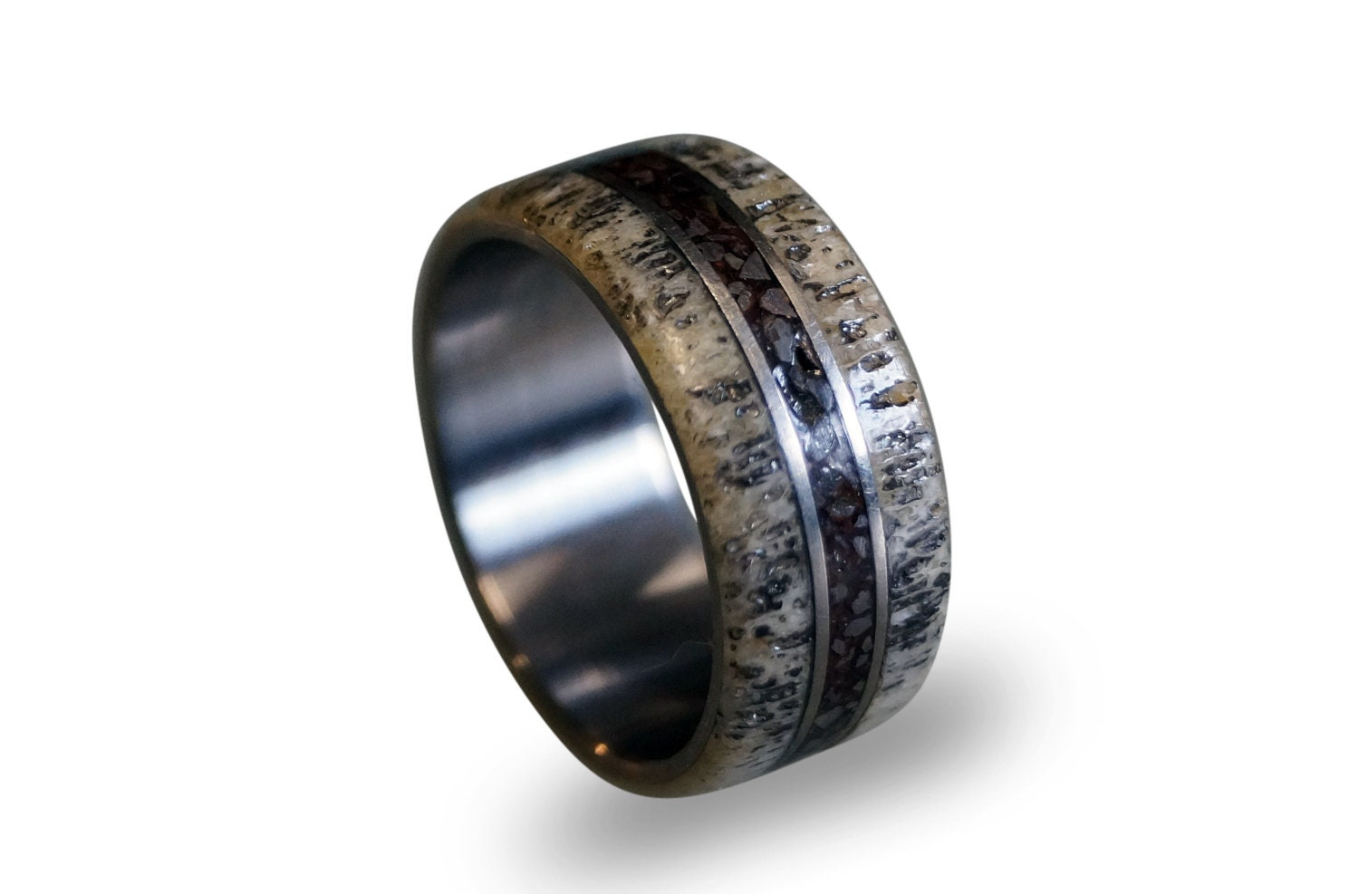 deer ideas wedding unusual wood with and antler corners download inlay rings design titanium cocobolo ring