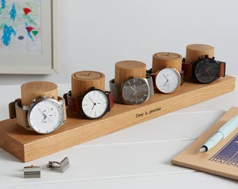 Five Column Watch Stand / Watch Storage / Gifts for him / Personalised Gift for Dad / Father's Day Gift