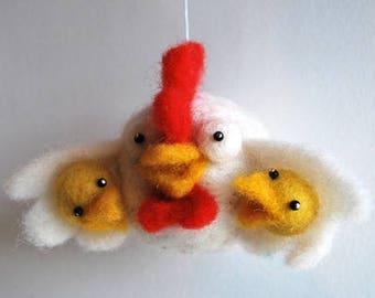 Mobilaria Mom Bird Needle Felting Kit from De Witte Engel