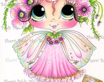 INSTANT DOWNLOAD Digital Digi Stamps Big Eye Big Head Dolls NEW My Besties img820 Fairy Bestie By Sherri Baldy
