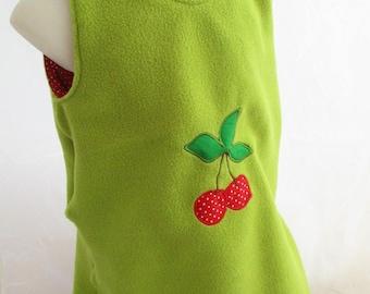 """12 months fleece trapeze dress """"Lovely cherry"""""""