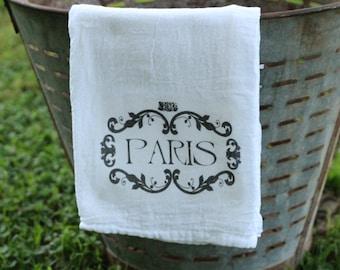 Paris Flour Sack Towel, Kithcen towel
