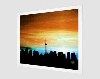 Toronto Skyline Orange & Blue