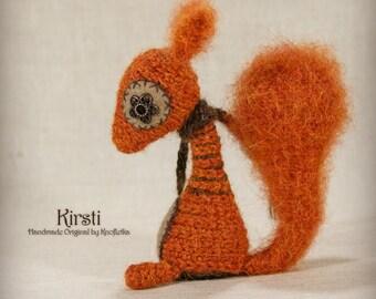 Kirsti - Original Handmade Little Squirrel/Collectable/Gift/Charm