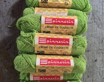 Vintage Spinnerin Creme De Coquette Virgin Wool Color 1727 9 Skeins 1 Oz Each