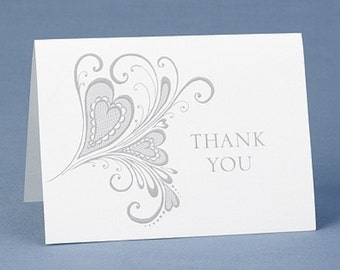 Paisley Heart Designs Wedding Thank You Notes (Pack of 50)