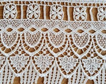 gorgeous guipure lace, 12 cm, synthetic
