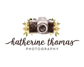 Camera logo design photography logo premade logo business logo watercolor logo photographer logo graphic design