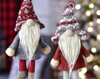 Gnome Ornament made of Polyester, set of 2 - Gnome Christmas - Christmas Gnome - Gnome Ornament - Gnome Gift - Gnome Decor