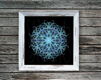 Mandala Winter Chill print
