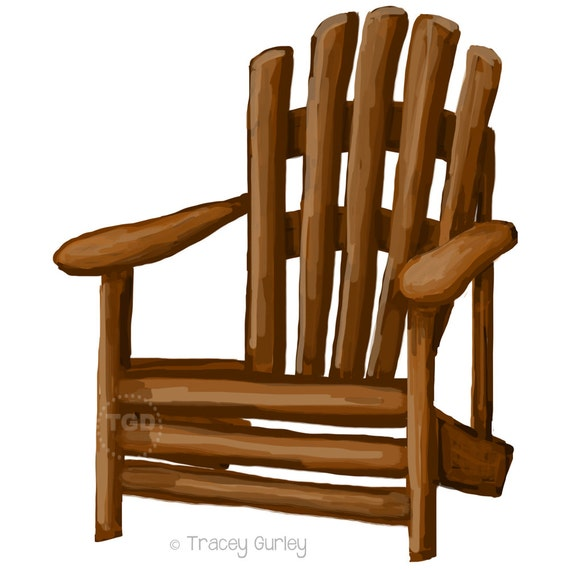 adirondack chair clip art adirondack chair painting hand painted rh etsystudio com chair clipart free chair clipart outline