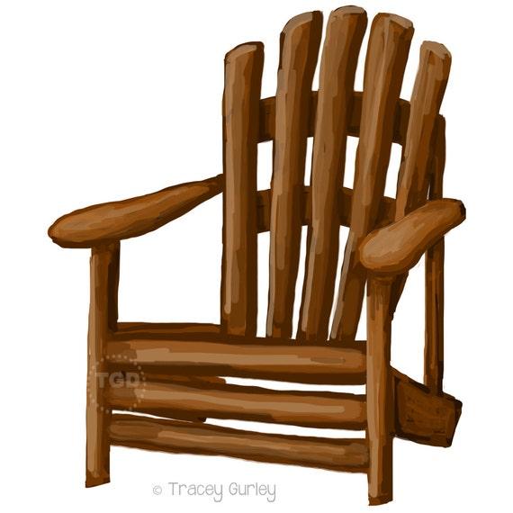 adirondack chair clip art adirondack chair painting hand painted rh etsystudio com chair clip art free chair clipart image