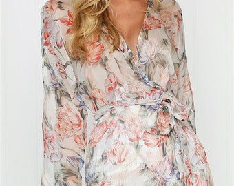 Grecian Silk Dress, XS, 8 - Floral, Greek, Rome, Roman, Summer, Beach, Formal, Chemise, Vintage, Slip, Low Back, Gown, Tulip