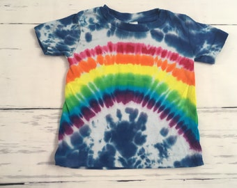 6 Month Baby Rainbow Skies Tie Dyed Tee Shirt